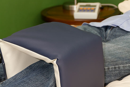 Knieapplikator - Einsatz am Knie